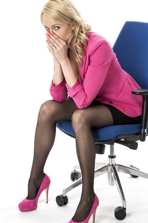 Model Released. Worried Young Business Woman Stock Photo - 22512452