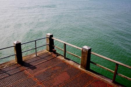 rusting: Rusting Ocean Front Pier Stock Photo