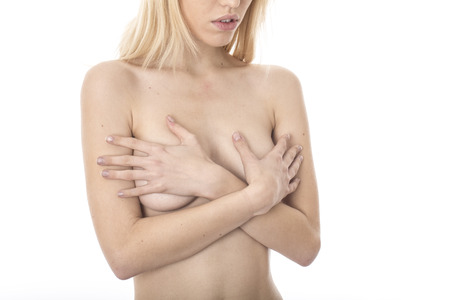 Model Released. Young Topless Woman photo