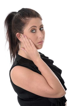 Young Woman with Earache photo