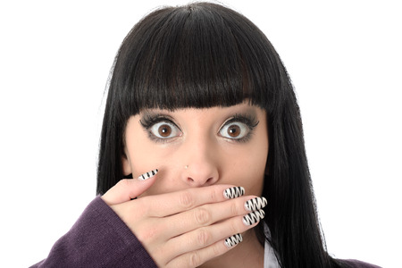 coy: Shocked Young Woman