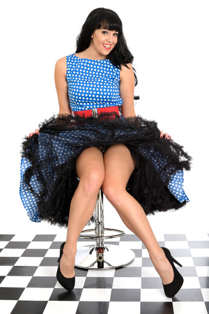 Attractive Young Vintage Pin-Up Model photo