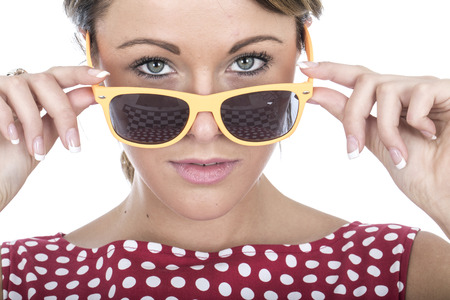 Attractive Young Woman Wearing Sun Glasses photo