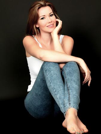 moods: Sexy Sensual Woman Sitting on Floor