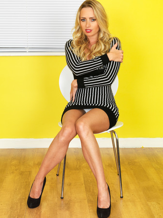 business woman legs: Attractive Sexy Young Business Woman Stock Photo