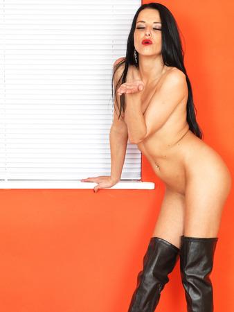 giovane nuda: Sexy Sensuale Nudo donna giovane Archivio Fotografico