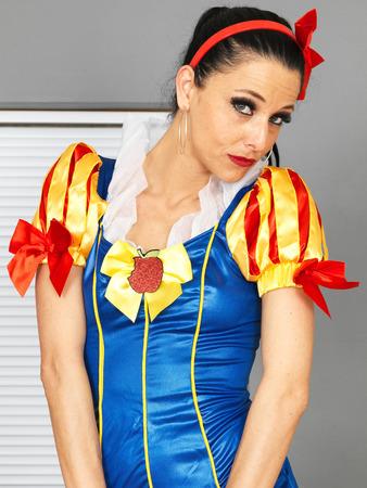 fancy dress party: Beautiful Young Woman In Fancy Dress Costume Stock Photo