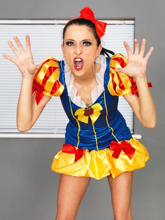 Beautiful Young Woman In Fancy Dress Costume photo
