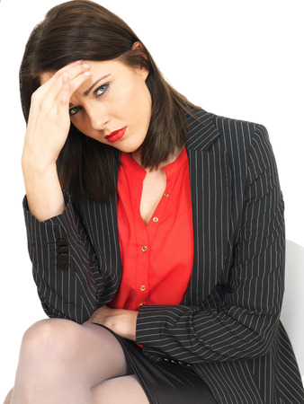 under pressure: Attractive Business Woman Under Pressure of Work