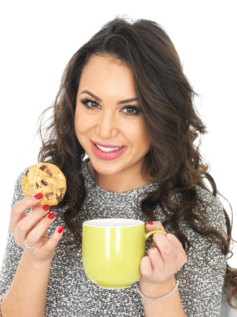 thirty something: Attractive Young Woman With a Mug of Tea Stock Photo