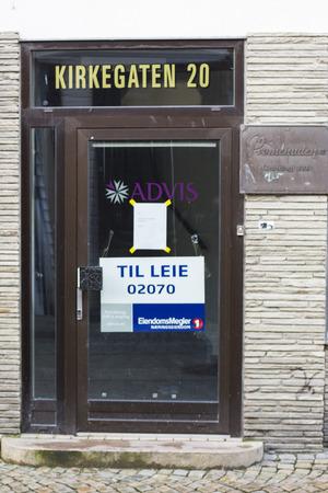 let: Empty Shop to Let in Kirkegaten Street Old Town Stavanger Norway. Editorial
