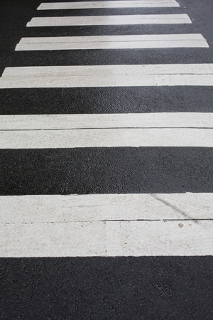 Pedestrian Public Road Zebra Style Crossing Sandnes Norway photo