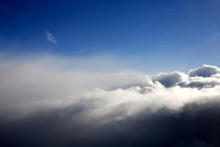 cloud scape: Whispy Cloud Scape at Altitude