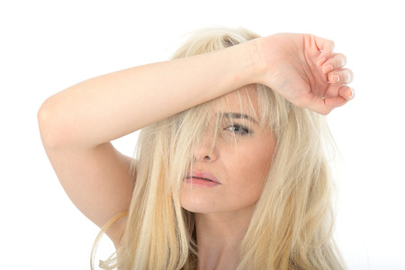 twenties: Attractive Young Woman in Her Twenties Looking Stressed and Frustrated Stock Photo
