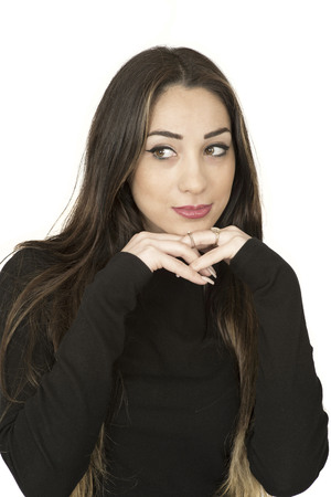 Attractive Relaxed Young Woman Resting Her Head on Her Hands