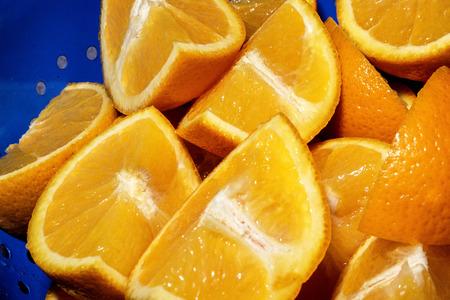 sweet segments: Creative Image of Fresh Ripe Juicy Orange Segments Stock Photo