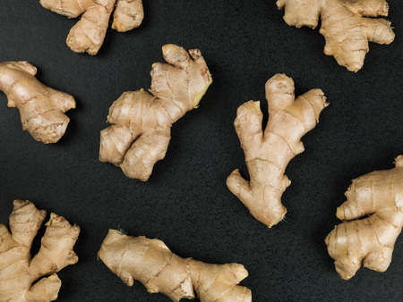 Fresh Root Ginger Aromatic Spices Cooking Ingredients Stock Photo ...