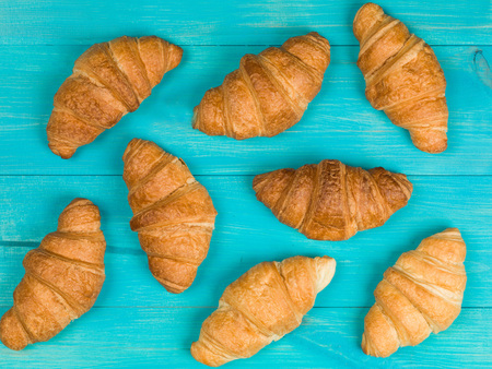 French Style Baked Breakfast Croissants Food