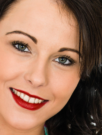 Close up Portrait of an Attractive Happy Smiling Successful Young Woman Stock fotó