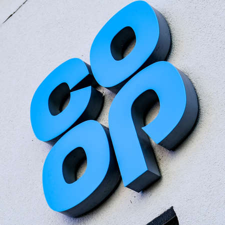 London UK, September 24 2020, Logo Of The Co-op Or Co-operative Supermarket Retail Chain With No People