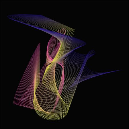 technologie: abstract colourful lines on the black background