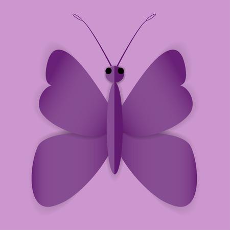 milkweed: Beautiful Butterfly on the purple shining background