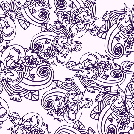 cor: Abstract purplel background with many different elements Illustration