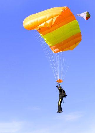 orange parachute Stock Photo