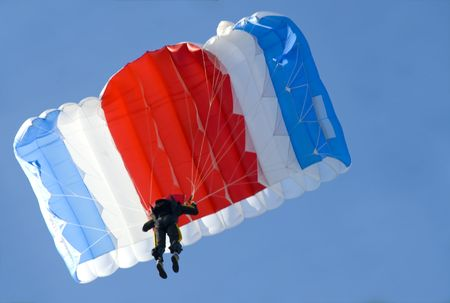 parachute above us Stock Photo