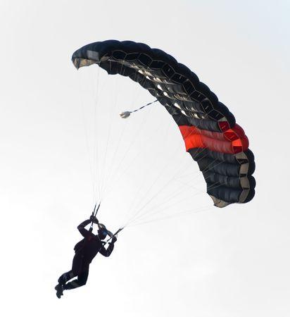 black parachute Stock Photo
