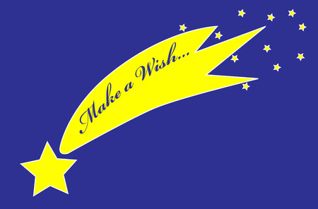 falling star: Make a wish