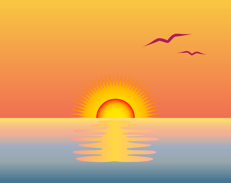 sunset Stock Vector - 2828048