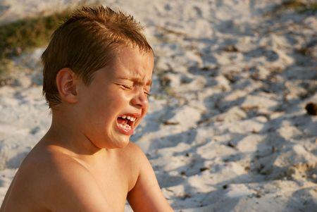 boy crying  Фото со стока