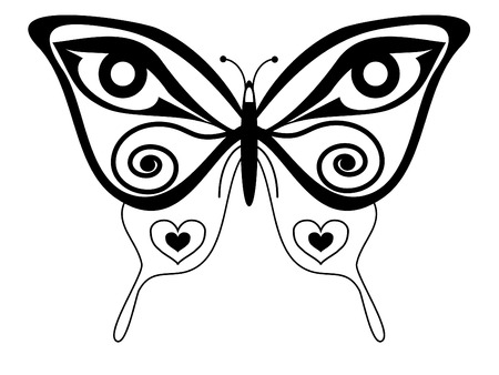 vector butterfly tattoo  Vector