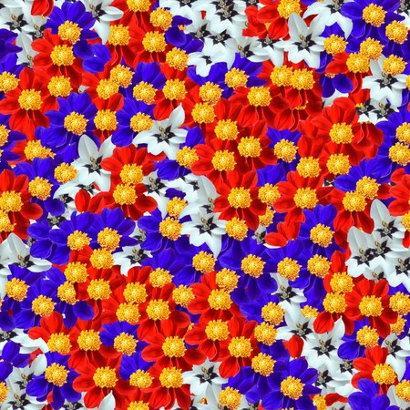 Seamless pattern made of flowers. Its composable like tiles without visible connecting line between parts photo
