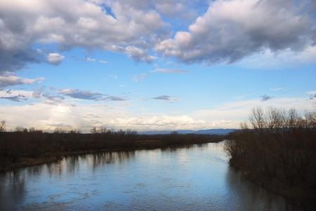 morava: View on a Velika Morava river in Serbia Stock Photo