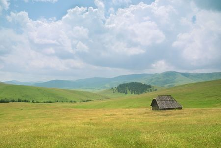 An old house on mountain Zlatibor, famous tourist resort in western Serbia.