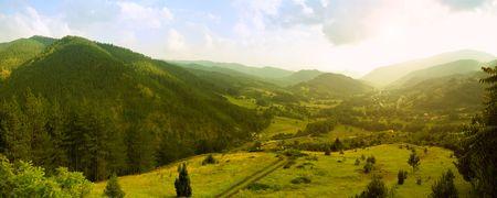 serbia: Panoramic image of Mokra Gora, famous touristic resort in Serbia.