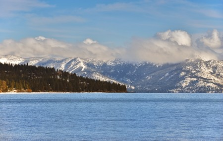 Sunny afternoon over lake Tahoe in winter. Stock Photo - 7016701