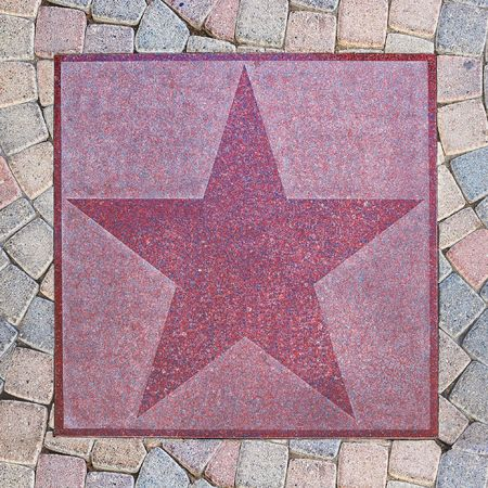 An empty star from Palm Canyon Drive in Palm Springs, California. photo