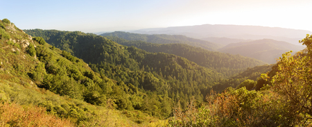 castle rock: Santa Cruz Mountains, view from Castle Rock hiking trail, Northern California.