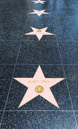 walk of fame: LOS ANGELES, CA - AUGUST 5, 2016: Henry ONeil star at Walk of Fame on Hollywood Boulevard.