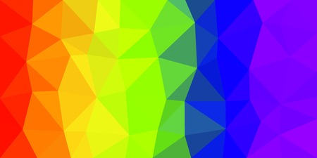 Rainbow Flag, low poly vector gradient texture. Colorful polygonal illustration, good as a cell phone, marketing material, or website background. All polygons are in separate layers.