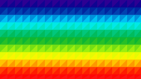 Colorful rainbow low poly vector gradient background. Polygonal texture, good as a cell phone, marketing material, or website backdrop. All polygons are in separate layers. Ilustração