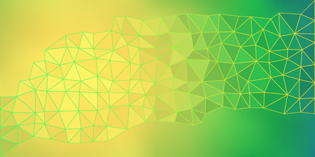 Yellow Green low poly vector gradient texture with blurry gradient mesh. Colorful polygonal illustration, good as a cell phone, marketing material, or website background.