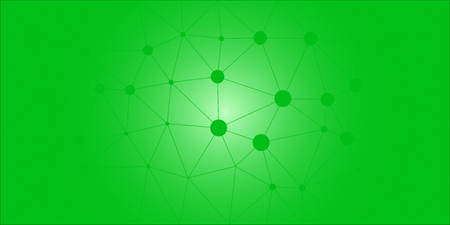 Green low poly vector gradient texture. Colorful polygonal illustration featuring connected dots, good as a background.