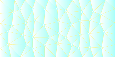 Light blue low poly vector gradient texture with yellow lines connecting blue dots like a network. Vettoriali