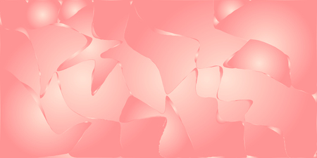 Pink metallic vector gradient background with wavy cracks and blobs.