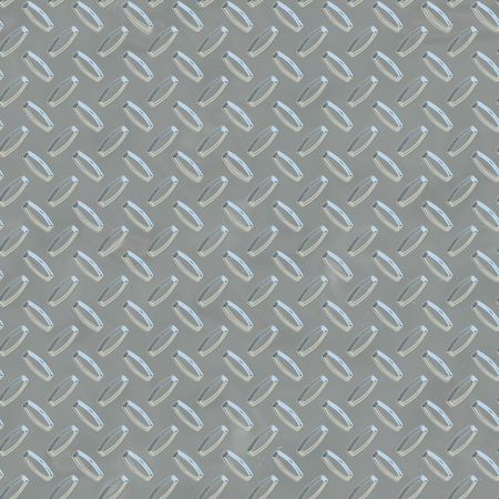 Steel gray diamond shiny metal plate seamless pattern, or texture. Stock Photo