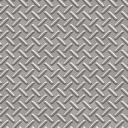 Silver diamond shiny metal plate seamless pattern, or texture.